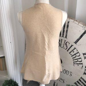 Minnie Rose Jackets & Coats - 100% cashmere Minnie Rose fringed vest